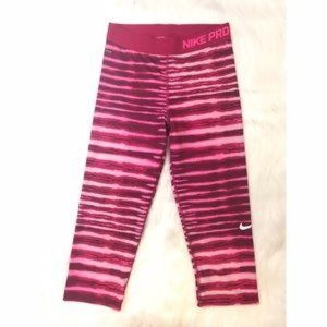 Nike Pro Women's Zebra Pink Tight Leggings, Small